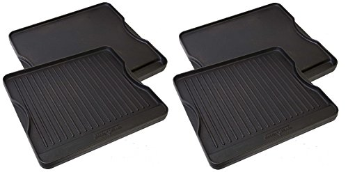 Camp Chef CGG16B Reversible Pre-Seasoned Cast Iron Grill/Griddle (Pack of 2) by Camp Chef