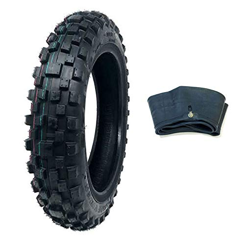 MMG Dirt Bike Tire 2.75-10 P91 with Inner Tube TR4 - Offroad Mini Motorcycle - Rear Knobby Tire Intermediate-Hard Terrain