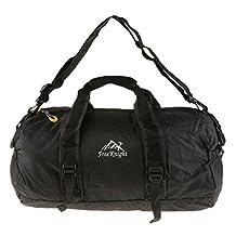 Unisex Large Travel Duffel Bag Foldable Packable Luggage Garment Sport Gym Tote Shoulder Bag Black