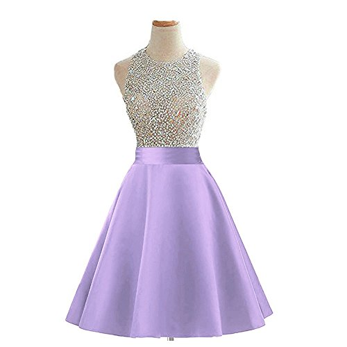 Meilishuo Beaded Sparkly Prom Ball Gown Short Mini Homecoming Dresses 2017