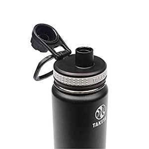 Takeya Originals Insulated Stainless Steel Water Bottle, 18 oz, Black