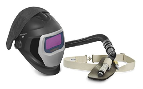 3M Speedglas Fresh-Air III Supplied Air System with V-100 Vortex Air-Cooling valve and Speedglas Welding Helmet 9100-Air, 25-5702-20SW with SideWindows and Auto-Darkening Filter 9100X, Shades 5, 8-13