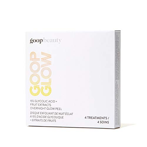 Goop Overnight Glow Peel! Glycolic Acid And Potent Fruit Extract! Naturally Moisturizing Hyaluronic Acid! Wake Up with Fresh, Soft, Smooth & Glowing Skin! Choose From 12 Pack or 4 Pack! (4 Pack)