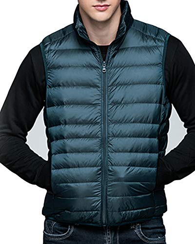 Sans Manteau Gilet Manches Bleu Veste Vert Bodywarmer Doudoune Homme Légère dRv0Uq
