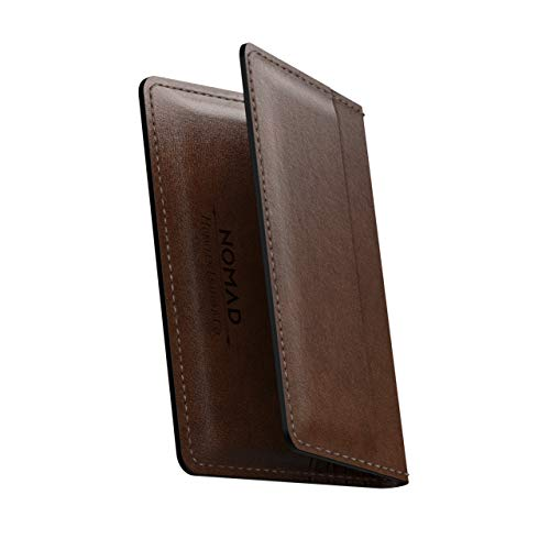 - Nomad Wallet with Integrated Tile | Rustic Brown Horween Leather