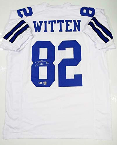 premium selection e03c0 b7513 Jason Witten Signed Jersey - White Pro Style Beckett Auth *8 ...