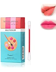 Yorimi 20 Stks/doos Tattoo Lipstick Sigaret Case Katoen Zwabber Matte Lip Gloss Sexy Vloeibare Lipstick Waterdichte Langdurige Moisturizer Professionele Lippen Balsem Make-up