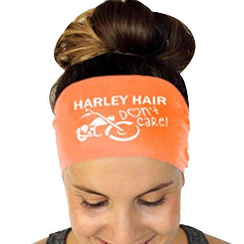 Stampa Fascia Arancio elastica sudore capelli Assorbimento puro I Sport Lettera Donna elastica Adeshop Yoga Colore Fascia 586UX6wZ