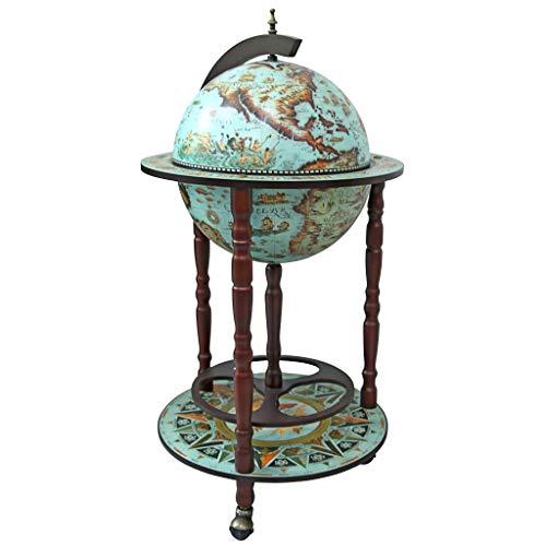 Design Toscano SJ360015 Sixteenth Century Replica Globe Bar Cabinet, 36 Inch, Cielo Blue ()