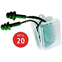 Kit C/ 20 Protetor Auditivo Pomp Verde C/Cordão 3M