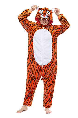 Yutown New Adult Animal Costume Onesie Unicorn Halloween Cosplay Pajama Zipper Tiger -
