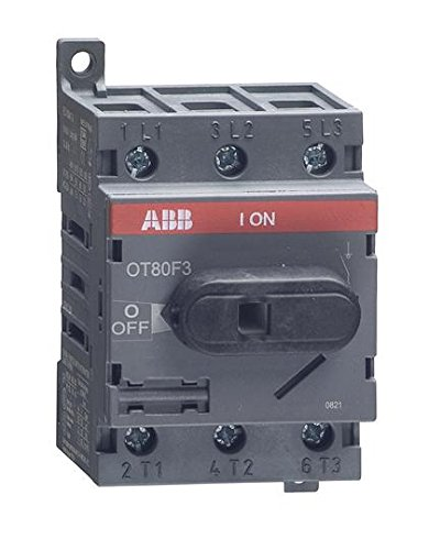 1- ABB OT80F3 DISCONNECT NON-FUSIBLE SWITCH, 3P, 80A, UL508 by (Abb Control)