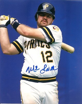 Autographed Photo Mike Lavalliere - Pittsburgh Pirates