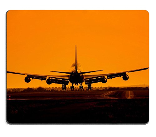 Buy cheap msd natural rubber mousepad image 28580037 huge plane with four engines landing sunset