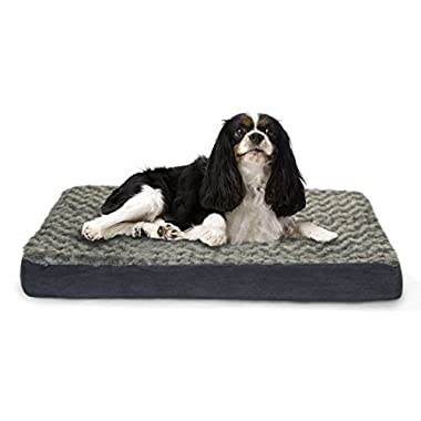 Furhaven Orthopedic Mattress Pet Bed, Medium, Gray, for Dogs and Cats