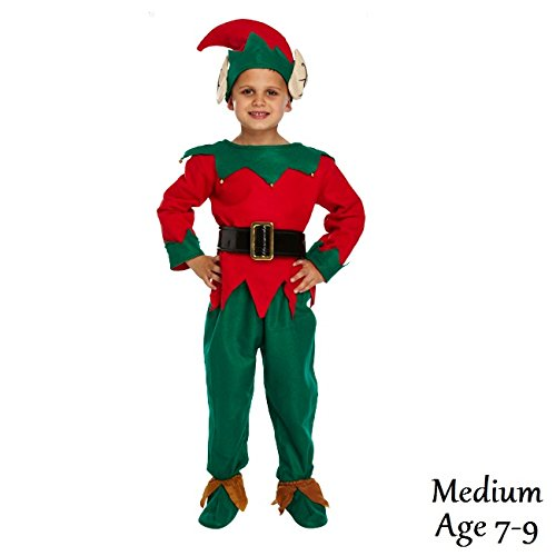 Medium Christmas Elf - Child's Dressing Up Outfit (Ages 7-9 years) by Dress Up -