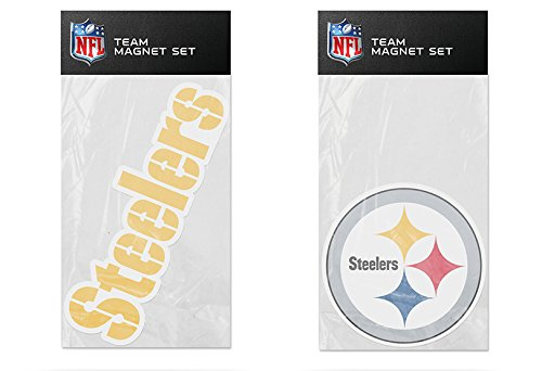 Car Steelers Pittsburgh Magnet - Rico Industries NFL Pittsburgh Steelers 2-Pack Die Cut Team Logo Magnet Set