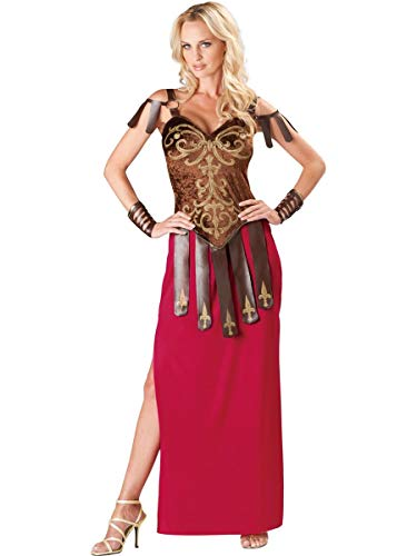 InCharacter Costumes Women's Gorgeous Gladiator Costume, Red/Brown, Medium -