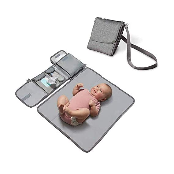 Meneflix Portable Changing Mat - Lightweight, Easy to Clean Baby Changing Pad, Waterproof Diaper Changing Pad with Head