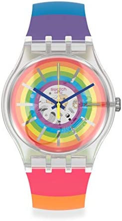 Swatch New Gent Swiss Quartz Silicone Strap, Transparent, 20 Casual Watch (Model: SUOK148) WeeklyReviewer