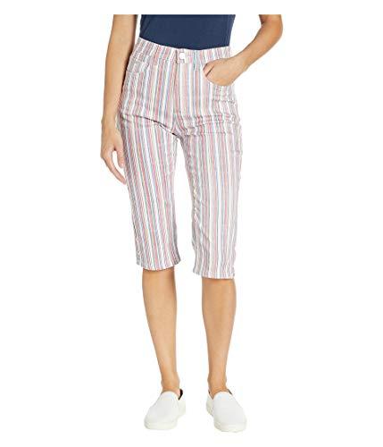 FDJ French Dressing Women's Multi-Stripe Mid-Rise Skinny Pedal Pusher Jeans ()