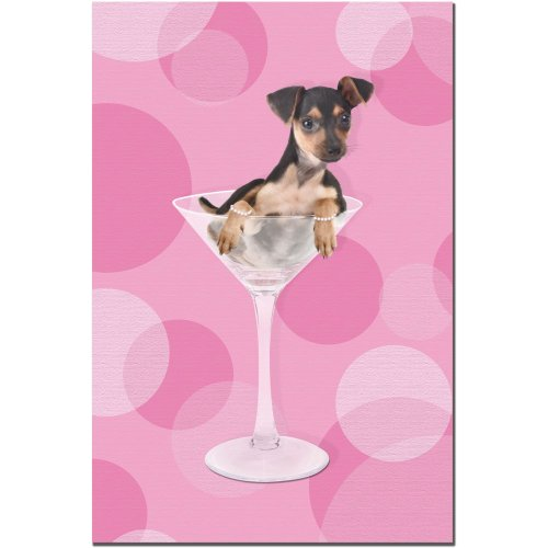 Min Pin by Gifty Idea Greeting Cards and Such, 16x24-Inch Canvas Wall Art (Greeting Gifty Cards Idea)