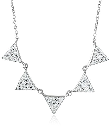 Sterling Crystal Triangle Necklace Extender