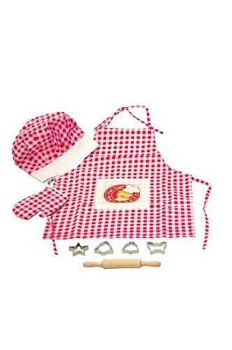 Woodyland Los Juegos de simulación Master Chef Juego de Cocina (8 Piezas) 90624