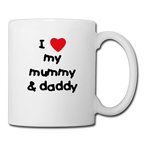Cool Love Mummy And Daddy Ceramic Coffee Mug, Tea Cup | Best Gift For Men, Women And Kids - 13.5 Oz, (Sweetheart Large Mug)