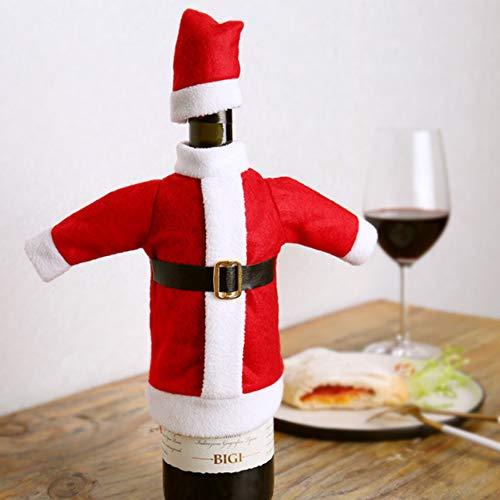 Christmas wine bottle cover Christmas Sweater Wine Bottle Cover, Handmade Wine Bottle Sweater for Christmas Decorations Christmas Sweater Party Decorations (Christmas costume)