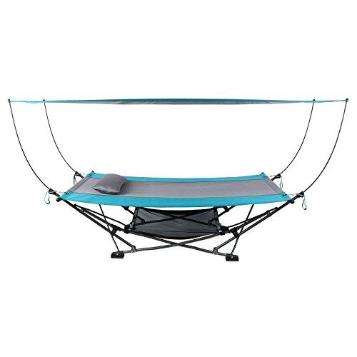 Skyline Canopy - Folding Hammock with Removable Canopy New Blue