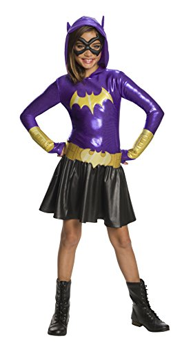 Rubie's DC Super Hero Girls Hoodie Dress Childrens Costume, Batgirl, -