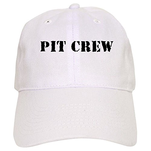 Pit Crew Cap (CafePress Pit Crew (Original) - Baseball Cap with Adjustable Closure, Unique Printed Baseball Hat)