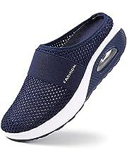 Air Cushion Slip-on Walking Shoes Orthopedic Diabetic Walking Shoes,Women's Breathable Casual Air Cushion Slip-on Shoes,Breathable with Arch Support
