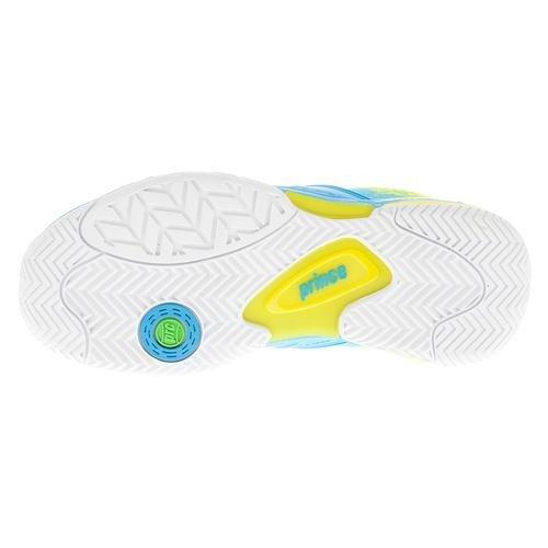 eac870646a858e Prince Damen Warrior Lite Tennis Sneaker Schuhe Blau Gelb ...