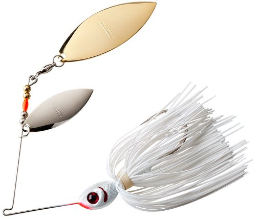 BOOYAH Blade - Double Willow Blade - Snow White - 3/8 oz Bass Spinner