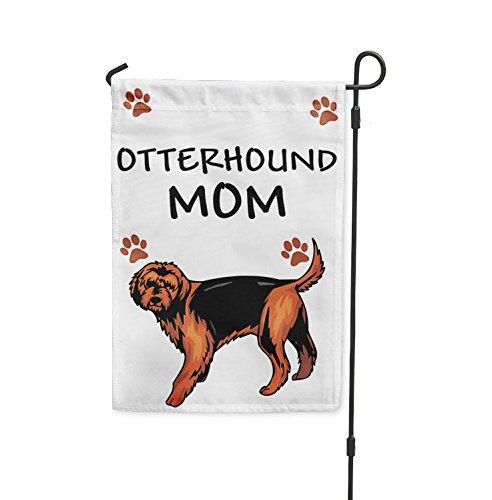 "OTTERHOUND DOG Mom Yard Patio House Banner Garden Flag w/ Iron Stake Flag & Garden Pole 8"" x 11 1/2"""