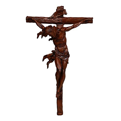 Pacific Giftware Wood Looking Finish Wall Crucifix Statue Home Decor