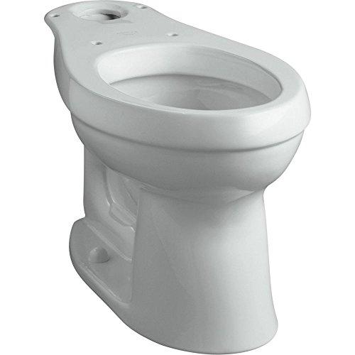KOHLER K-4309-95 Cimarron Comfort Height Elongated Toilet Bowl with Class Five Flushing Technology, Ice (Height Complete Solution Elongated Toilet)
