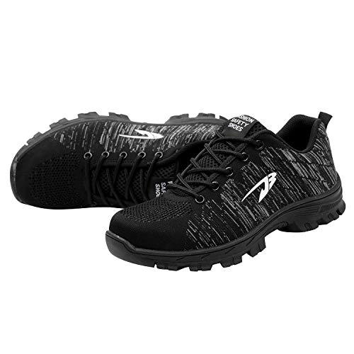 Black Safety Shoes Optimal Work Men's Steel Shoes Shoes 2 Toe v1vAq4