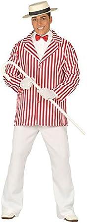 Magic Box Disfraz de Blazer Rayado Rojo de los años 20 para Hombre ...
