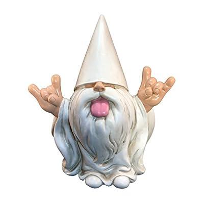 "GlitZGlam Rocker Gnome – ""George"" – This Gnome Will Rock Your Fairy Garden and Garden Gnomes 10 Inches Tall Garden Gnome Figurine: Home & Kitchen"