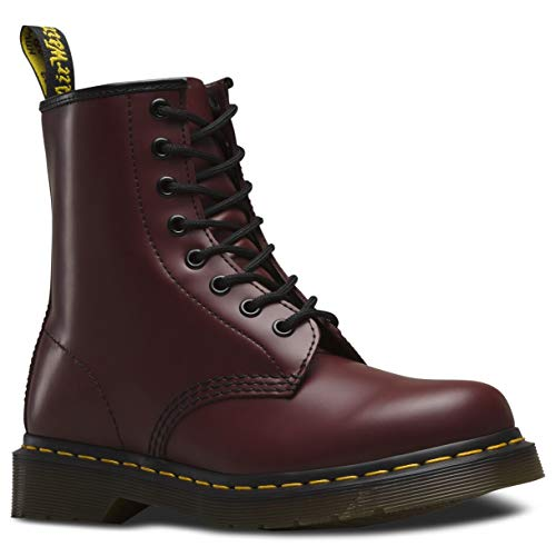 Dr. Martens 1460 Originals 8 Eye Lace Up Boot, Cherry Red Rouge Leather, 8UK / 9 US Mens / 10 US Womens, 42 EU