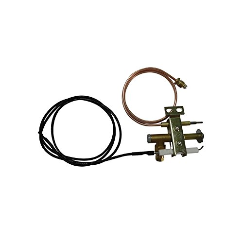 (EARTH STAR Gas fryer Universal Pilot burner with 900mm piezo wire and thermocouple M9X1 thread)