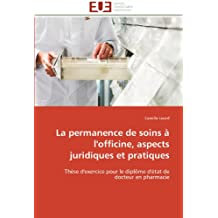 LA PERMANENCE DE SOINS A L OFFICINE  ASPECTS