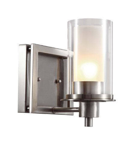 Trans Globe Lighting 20041 Square Wall Sconce, Nickel