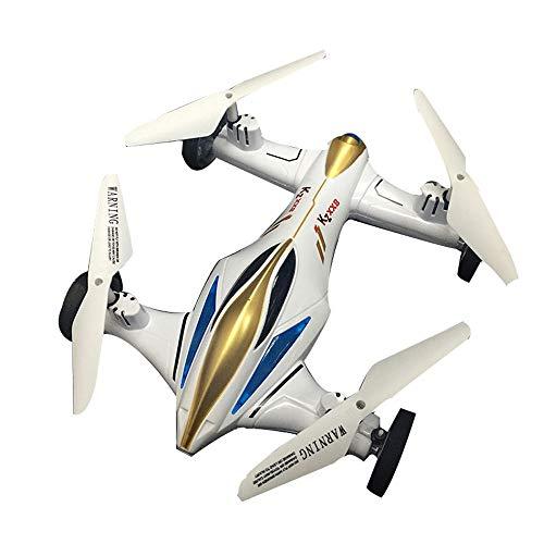 YXWJ Drone de Doble Uso terrestre y aéreo Avión de Cuatro alas Antena Control Remoto Profesional Modo de Vuelo Modo de...