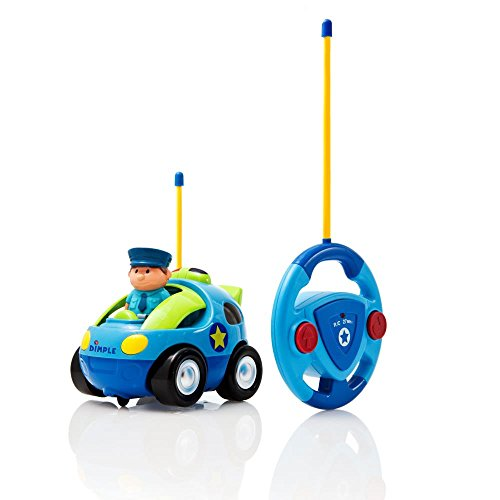 Cartoon Remote Control (R/C) Police Car for Kids and Toddlers with Sound and Lights by Dimple