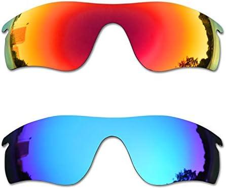SOODASE Pour Oakley Radarlock Path Des lunettes de soleil Rouge/Bleu 2 Paires Verres de remplacement polarisés