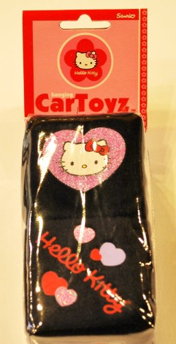 Hello Kitty Fuzzy Dice one Pair